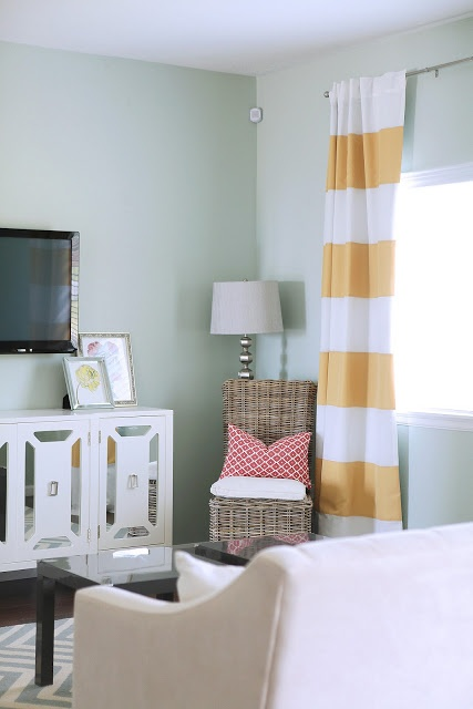 Yellow Striped Curtains